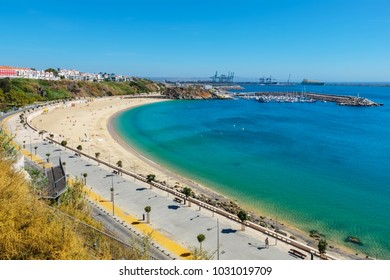 City beach and harbour at Sines. Alentejo, Portugal