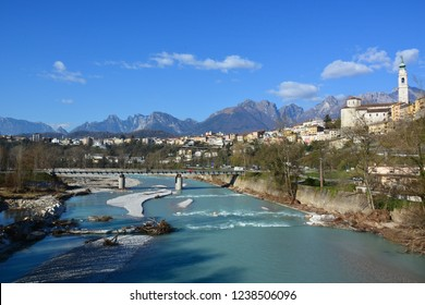 The city of Belluno, beautiful and surrounded by the Dolomites