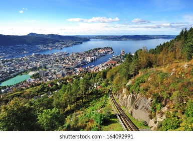 City of Bergen from Mt. Floyen, Norway