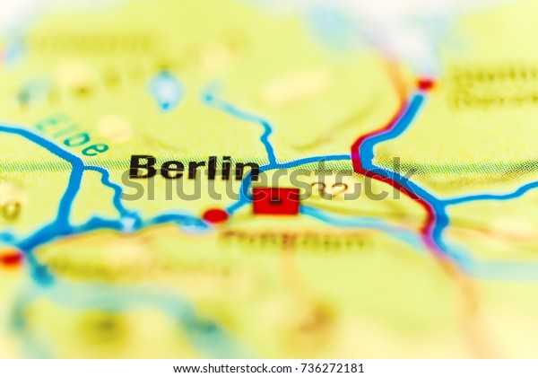 City Berlin On World Map Stock Photo (Edit Now) 736272181
