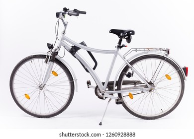 City bicycle on white background