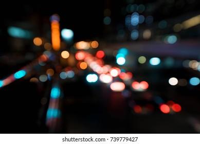 city blur bokeh background