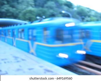 city blurred bridge subway