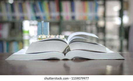 City building concept on education book library