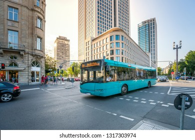 city bus in Frankfurt am Main, Germany