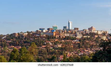 City bussiness district landscape of Kigali, Rwanda, 2016
