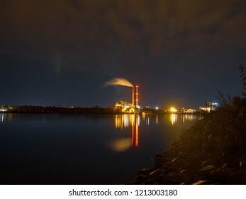 City by night, Oulu Finland
