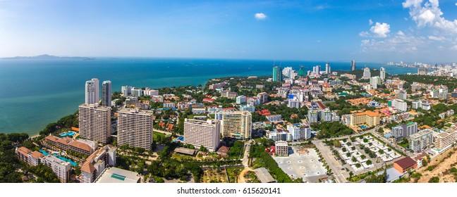 City by the ocean. Thailand. Pattaya