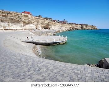 City by the sea. Mangistau. Aktau. Kazakhstan. New Quay.
