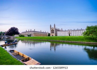 City of Cambridge at the river cam in England