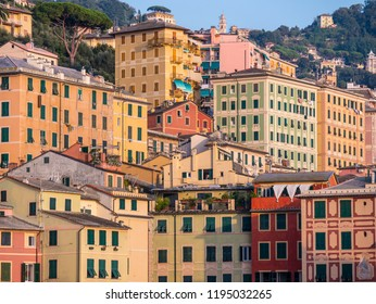 City of Camogli - Typical architecture of the buildings in Liguria - Italy