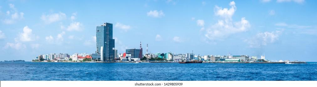 The city of Malé, Capital of the Maldives, North Malé atoll, Maldives