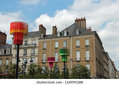 city center of Rennes, Bretagne, France