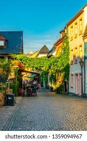 City center of Rudesheim am Rhein in Germany