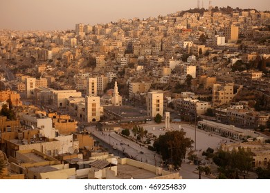 the city centre of amman in jordan in the middle east