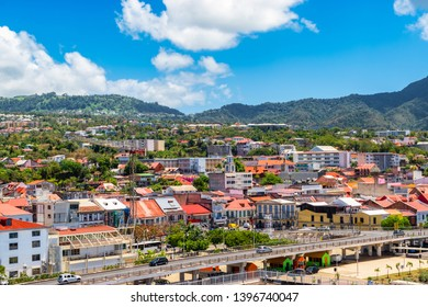 City centre of Basse-Terre, Guadeloupe.