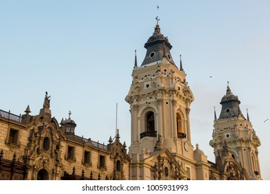The city centre of Lima, Plaza Mayor, is surrounded by the Cathedral and the palaces of the Government, Municipal and Union. It is situated in the historic centre of Lima, Peru.