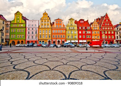 City centre, Market square tenements, Wroclaw Poland