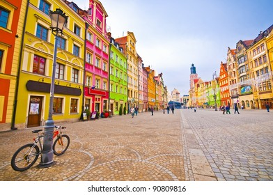 City centre, Market square tenements, Wroclaw Poland