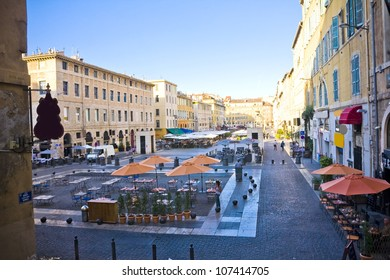 the city centre in Marseille , France