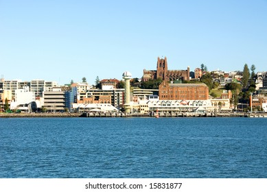 The city centre of Newcastle, as seen from Stockton, New South Wales, Australia