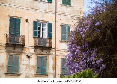 In the city centre of Sassari, Sardinia