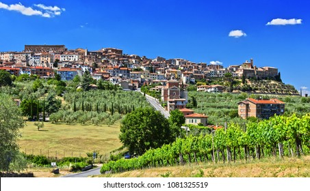 City of Chianciano Terme in the province of Siena in Tuscany, Italy.