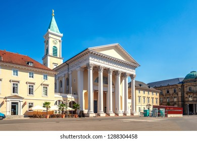 City Church in Karlsruhe, Market Square, in Germany