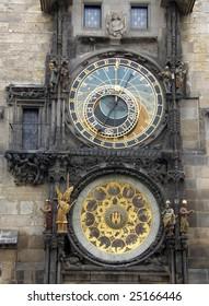 City clock Orloy in Prague. Czech republic.