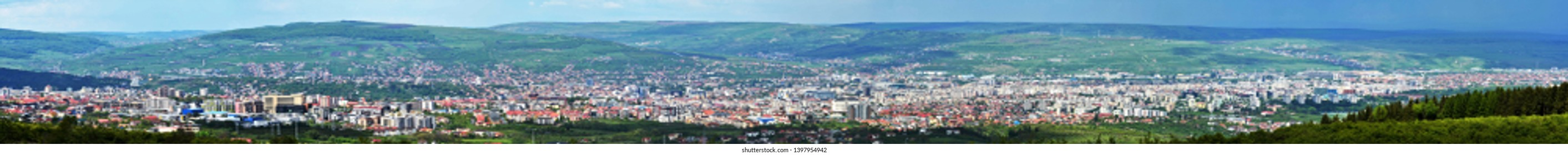 The city of Cluj Napoca from Cluj county - Romania 11.May.2019 It is a city located in the center of the Transylvanian Plateau