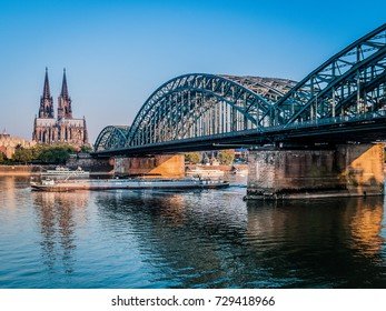 City of Cologne, Germany, Morning View on Dome Cathedral Church