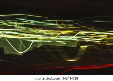 The city colors of light dancing abstract background.