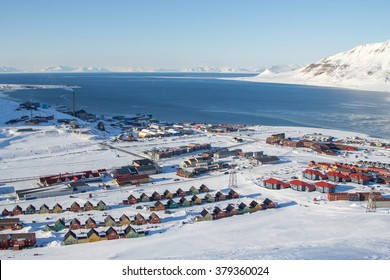 A city details of Longyearbyen - the most Northern settlement in the world. Spitsbergen (Svalbard). Norway.