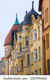 City domes of the old town. Helsinki, Finland