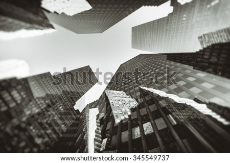 City double exposure