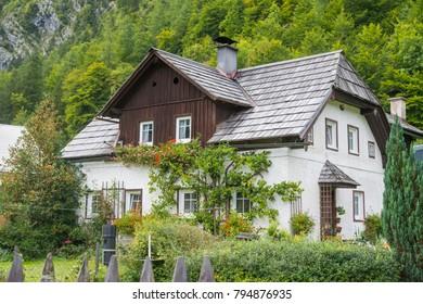 City of dream Beautiful house Hallstatt Salzburg Austria
