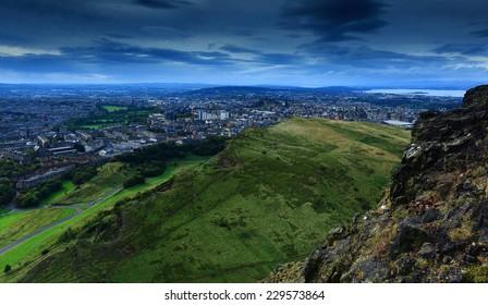 City of Edinburgh view from Arthur's Seat, Scotland