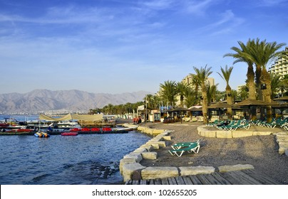 The city of Eilat has become the ultimate resort city with beautiful marine beaches and resort hotels packed with relaxing tourists from around the world