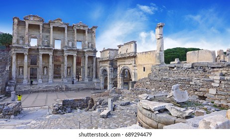 City of Ephesus, an ancient Greek city on the coast of Ionia, Selcuk in Izmir Province, Turkey.