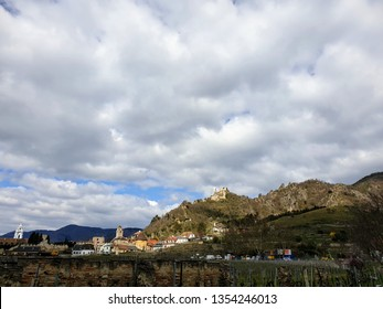 The City of Dürnstein with the famous castle ruins