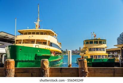 City Ferries at Circular Quay in Sydney - Australia