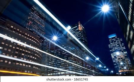 city finance district nightlife