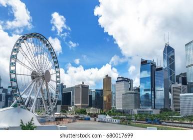 city financial district in Hong Kong,China.
