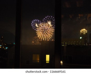 City Fireworks from Afar