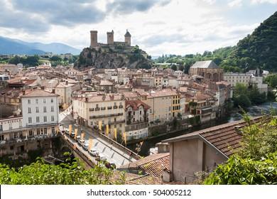 City of Foix, Ariege, France
