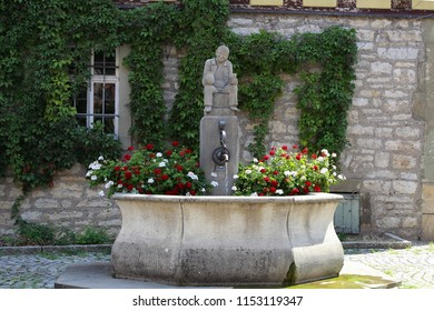 City fountain in Weikersheim (Germany)