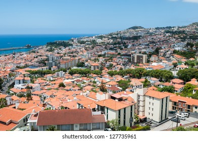 The city of Funchal at Madeira, Portugal