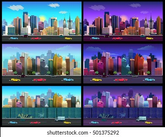 city game background  game application. Illustration for your application , project