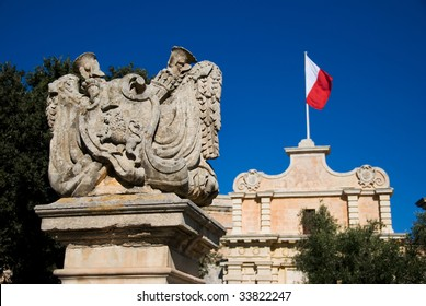 City Gate and Maltese Flag