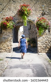 City gate in Prats-de-Mollo-la-Preste in the Pyrenees; France - Shutterstock ID 1631564443